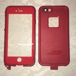 Red iPhone 6/6s LifeProof Case